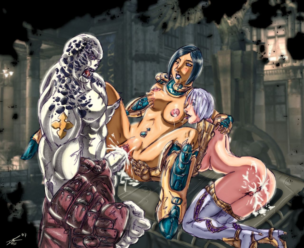 naked war gears of sam Anime girls with big butts