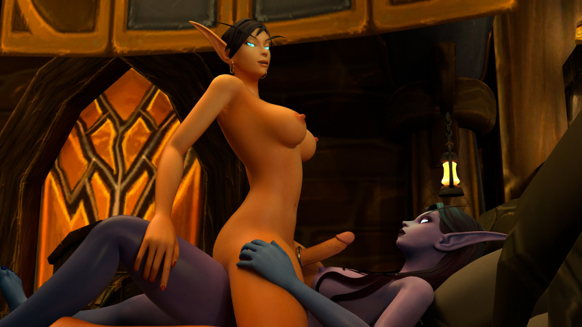 cock futa warcraft of world Oliver and company