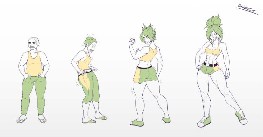male to anime female transformation Arabatos king of the hill